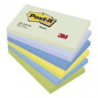 Bloc notas Post-it colores fantasía 76x127mm 100 hojas
