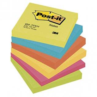 Bloc notas Post-it colores energía 76x76mm 100 hojas