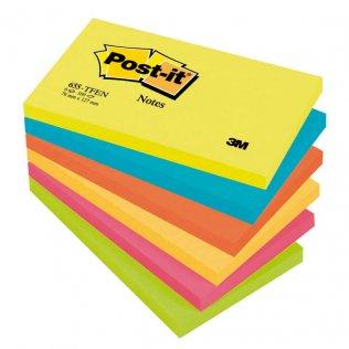 Bloc notas Post-it colores energía 76x127mm 100 hojas