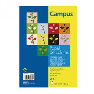 Papel A4 Turquesa 80g 100 hojas Campus