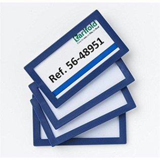 Marcos de identificación adhesivos Tarifold Pack 4 unid azul