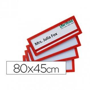 Marcos de identificación adhesivos Tarifold Pack 4 unid rojo