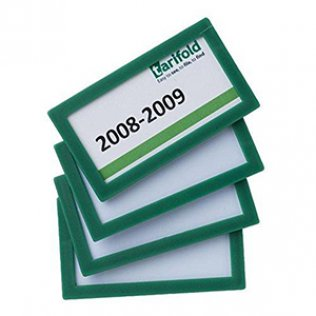 Marcos de identificación adhesivos Tarifold Pack 4 unid verde