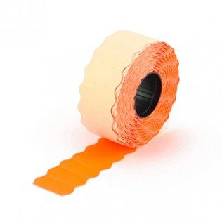 Etiquetas Meto 26x16mm removible naranja 1200 uds