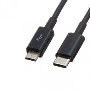 Cable USB-C a USB-B negro 1,22 metros