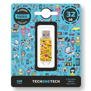 Pen drive Tech1Tech 32 GB Emojis