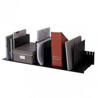 Clasificador vertical negro 10 separadores Paperflow