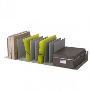 Clasificador vertical gris 10 separadores Paperflow
