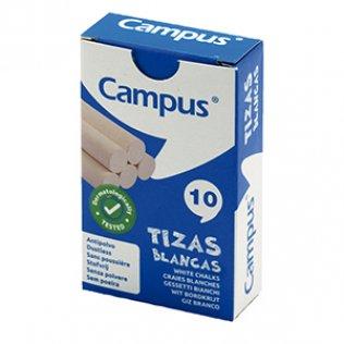 Tizas blancas caja 10ud Campus