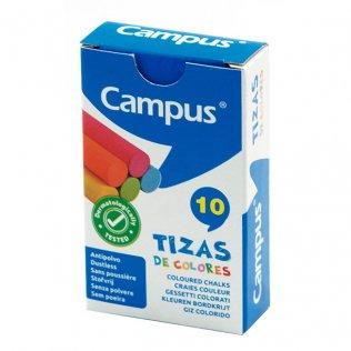 Tizas de colores caja 10 ud Campus