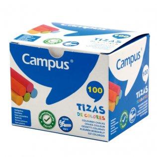 Tizas de colores caja 100 ud Campus