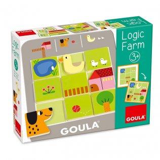 Juego Educativo Puzzle Logic Farm Goula