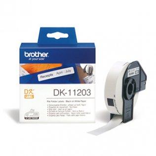 Etiquetas Brother DL11203 17x87 mm para carpetas 300u