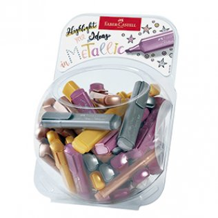Marcador Faber Castell colores metálicos bombonera 80 unid