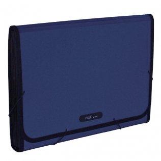 Carpeta clasificadora Premium A4 azul metálico Plus Office