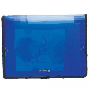 Carpeta A4+ azul con gomas y fuelle Plus Office