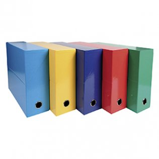 Caja transferencia Exacompta Lomo 90mm 5 colores surtido B