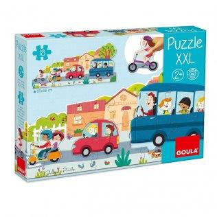 Juego Educativo Puzzle XXL Vehículos Goula