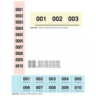 Tiras de rifa del 1 al 1000 Makro Paper 60 ud.