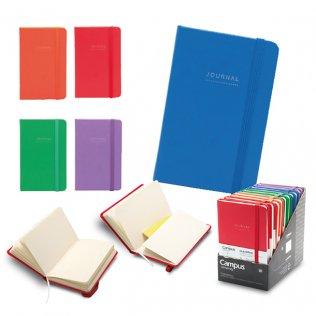 Libreta encuadernada Campus A6 Journal tapas duras 80g 96h Liso Expositor 10 ud