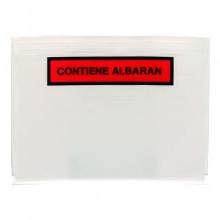 Sobre portadocumentos CONTIENE ALBARAN 162x120mm