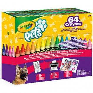 Lápices de cera CRAYOLA PETS 64 colores