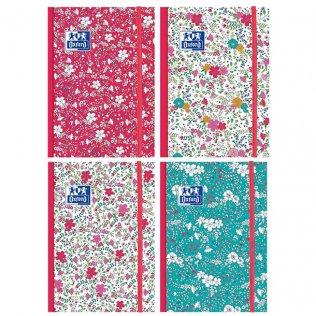 Cuaderno cosido Oxford Floral A6 80h 90gr raya horizontal 4 diseños