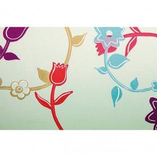 Bobina papel de regalo 35cm x 100m Flores