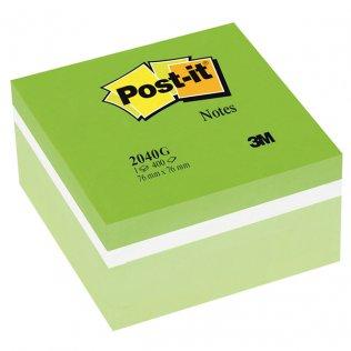 Cubo notas Post-it 76x76 400h verdes