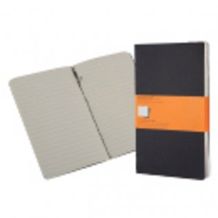 Set 3 cuadernos Moleskine A6 tapa negra. Rayado horizontal