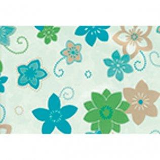 Bobina papel de regalo 35cm x 180m Flores