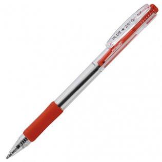Boligrafo Plus Zero 0,7 retráctil tinta base de aceite Rojo