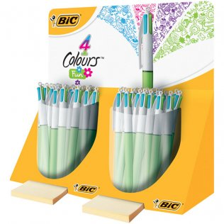 Bolígrafo BIC 4 Colours Fashion Exp 40 unid