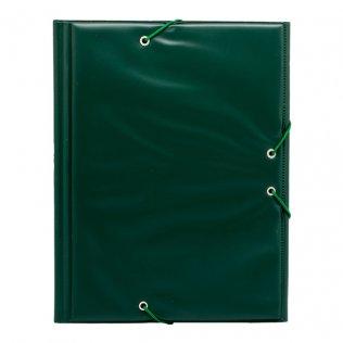 Carpeta PVC 4º gomas y solapas verde oscuro