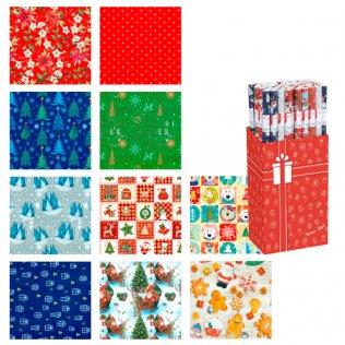 Papel de regalo Expositor 60 rollos Navidad
