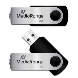 Pen drive MediaRange USB 64GB Negro
