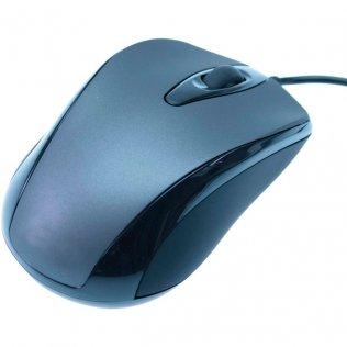 Ratón óptico con cable 3 botones Negro/Gris