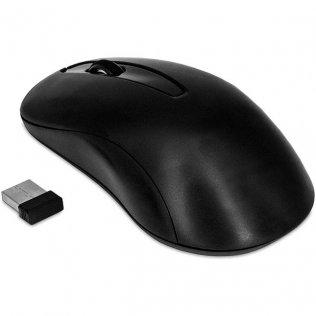 Ratón óptico inalámbrico 3 botones negro