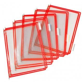 Funda portacatálogo A4 rojo Tarifold 10ud