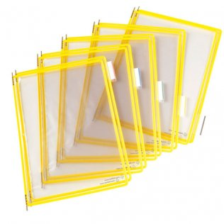 Funda portacatálogo A4 amarillo Tarifold 10ud