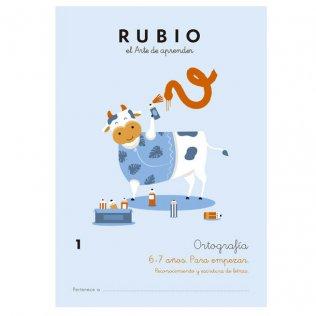 Cuaderno Rubio Ortografía 1 Para Empezar - 5 unid