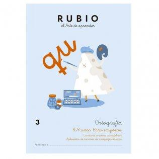 Cuaderno Rubio Ortografía 3 Para Empezar - 5 unid