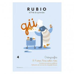 Cuaderno Rubio Ortografía 4 Para Saber Más - 5 unid