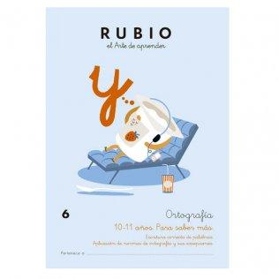 Cuaderno Rubio Ortografía 6 Para Saber Más - 5 unid