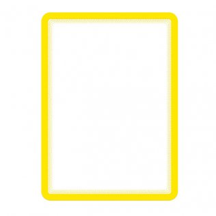 Marco porta anuncios A4 amarillo adhesivo 2ud Tarifold