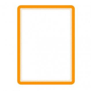 Marco porta anuncios A4 naranja adhesivo 2ud Tarifold