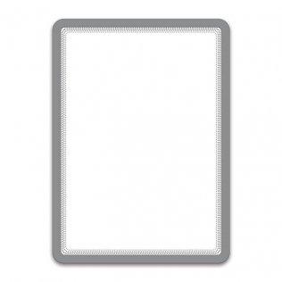 Marco porta anuncios A4 plata bandas magnéticas Tarifold 2ud