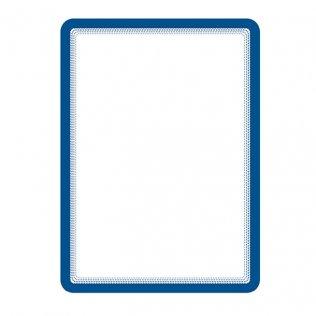 Marco porta anuncios A4 azul bandas magnéticas Tarifold 2ud
