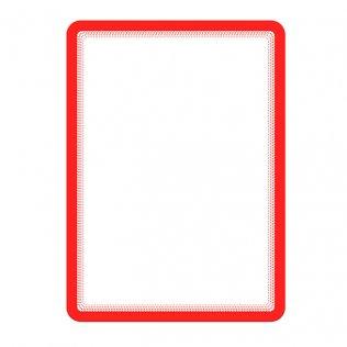 Marco porta anuncios A4 rojo bandas magnéticas Tarifold 2ud