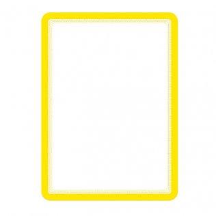 Marco porta anuncios A4 amarillo bandas magnéticas Tarifold 2ud